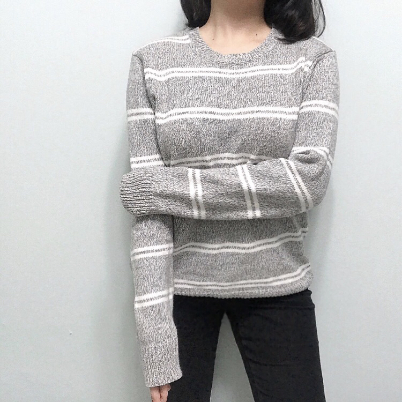 [유니클로]그레이단가라니트