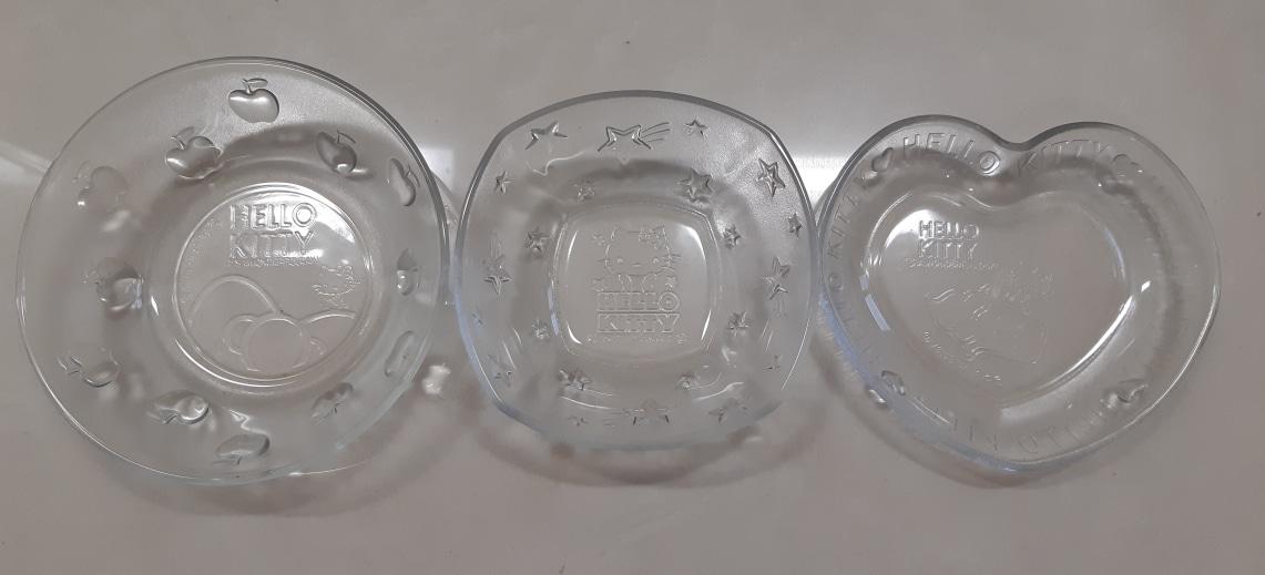 헬로키티 유리 그릇(가격내림)