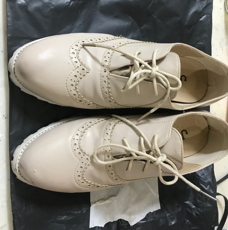 ❌마지막금액내림❌단화/신발/여성신발/굽신발/베이지