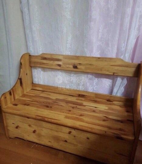 엔틱가구 빈티지 올드 파인 2인용 의자 체어 빈티지가구 앤틱가구