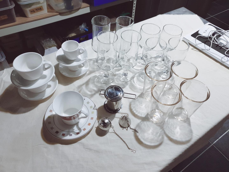 커피잔,유리잔,티망