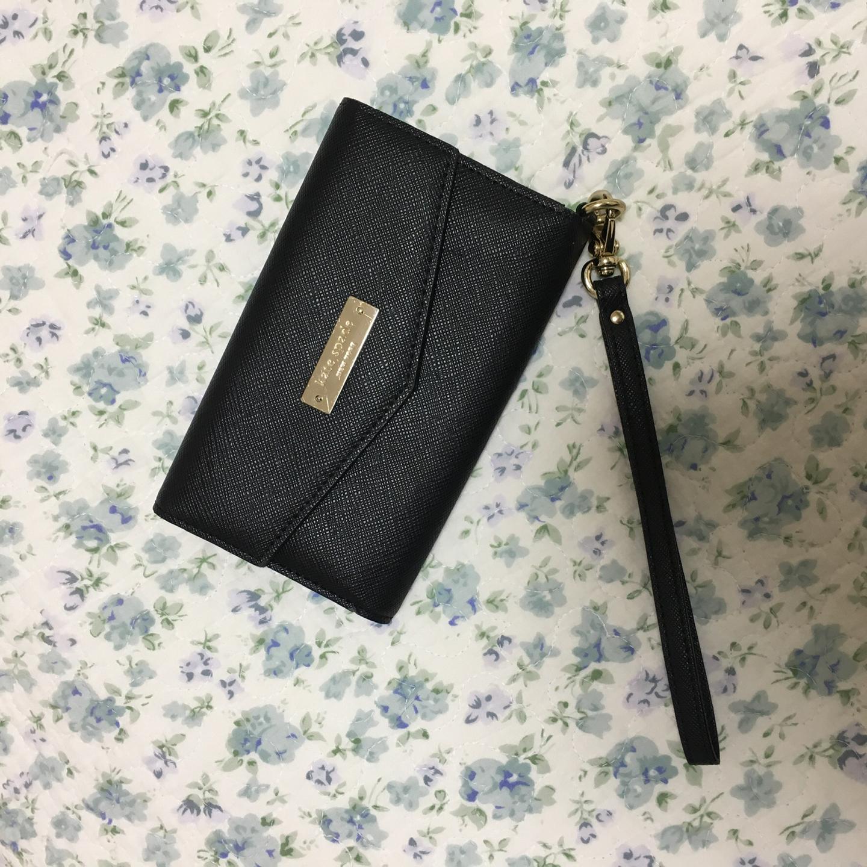 케이트 스페이드 휴대폰 지갑 (블랙) / 중지갑 아이폰 폰케이스지갑 카드지갑