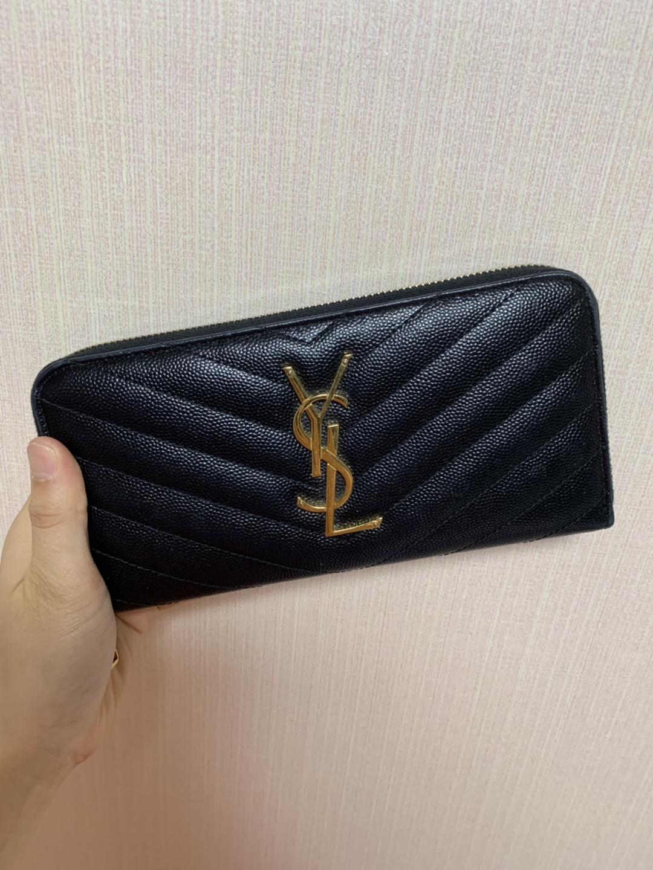 생로랑 장지갑 / 여성 지갑 / 생로랑 지갑 / 생로랑 마틀라세 (거의 새 상품)