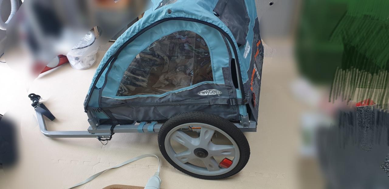 인스텝 자전거 트레일러(더블)