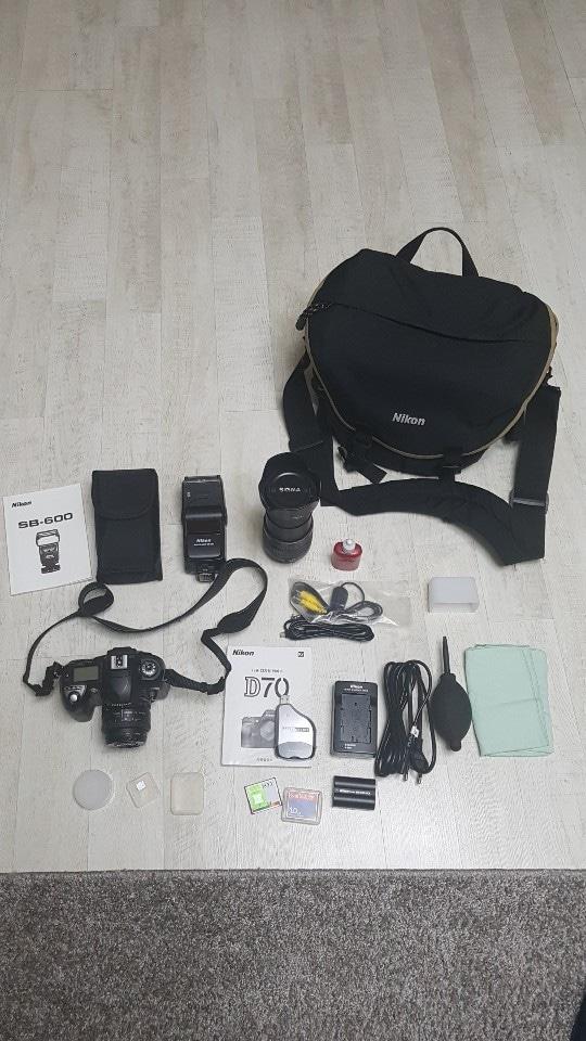 디지털  slr니콘 d70 카메라 세트