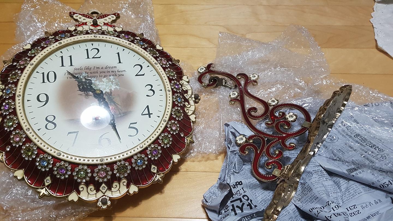 보석 양면 벽걸이 시계