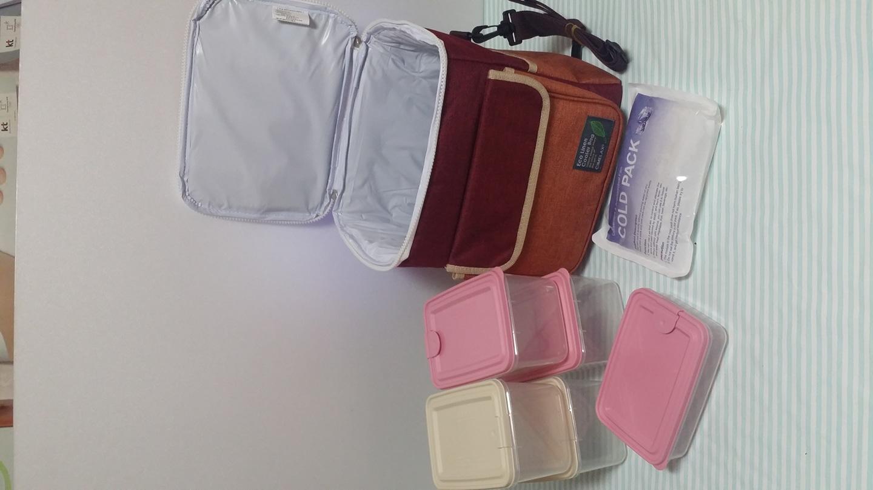 새상품) 보냉가방+도시락세트+아이스팩