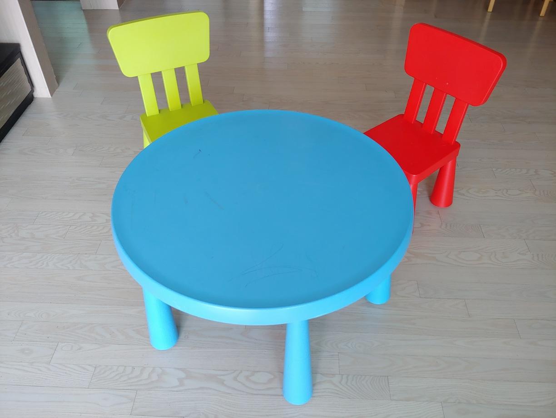 이케아 아동 책상+의자