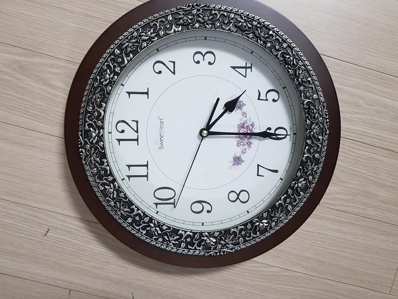 원목저소음벽시계 지름30cm
