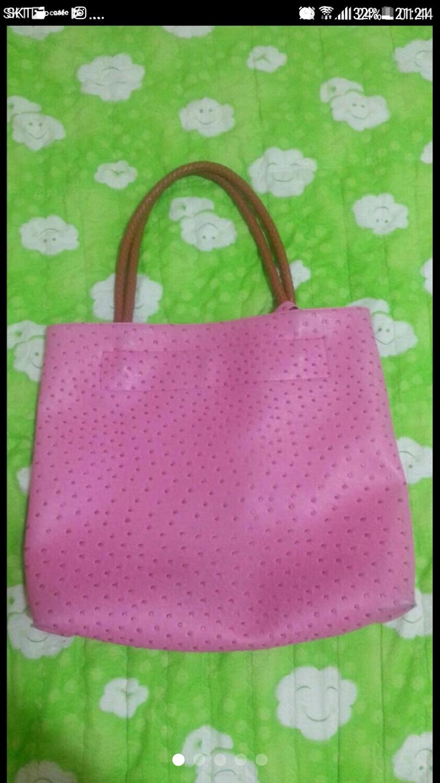 진핑크 타조백 여자숄더백 여성숄더백 봄가방 핑크백 핑크가방