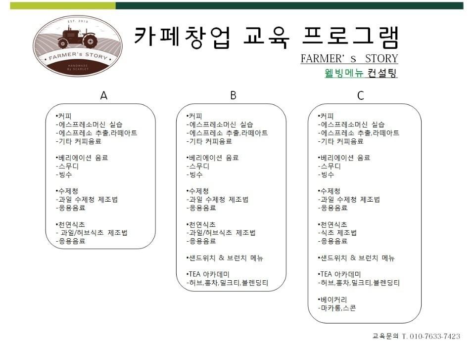 카페 창업교육 프로그램