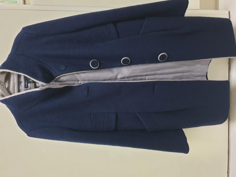 네이비 니트 코트