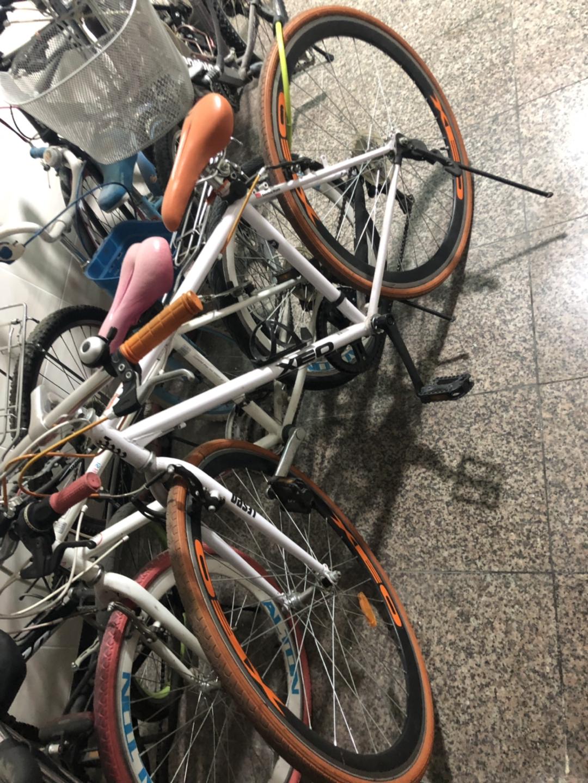 하이브리드 자전거 커플 자전거 ㅍㅍ