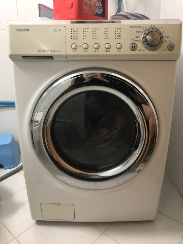 LG트롬 WD-CR206C 10kg 드럼세탁기 (삶음,건조기능있음)