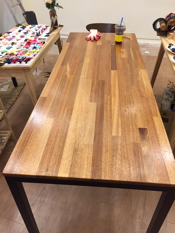 원목상판 테이블