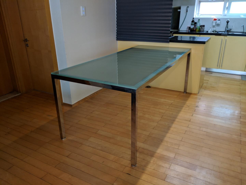 스테인레스 강화유리 2m(2000*900) 대형 테이블(식탁, 책상)