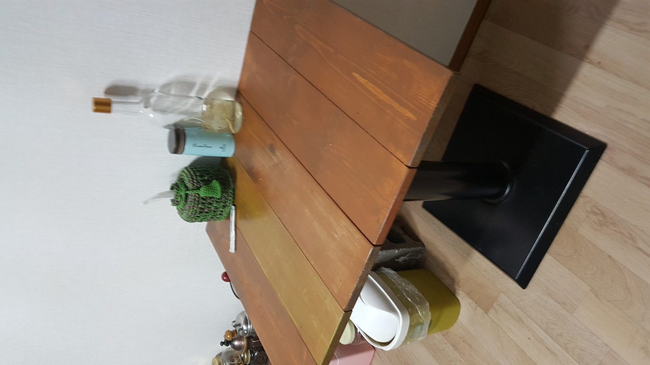 원목 2인 탁자
