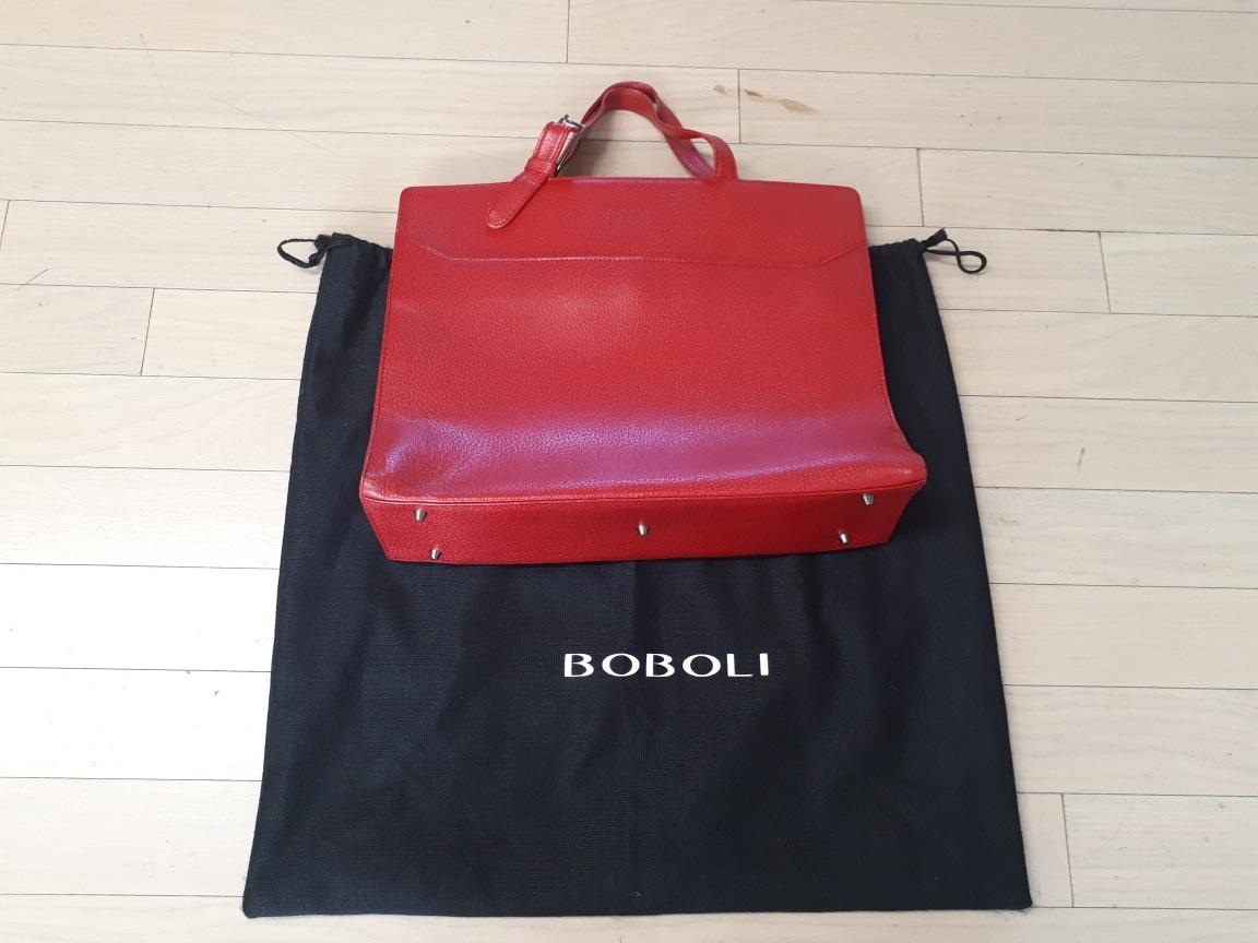 (보볼리가방) 가죽 토드백 선명한 레드 빅백 서류가방