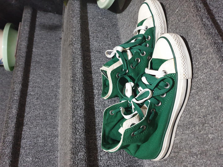 캔버스 초록 운동화