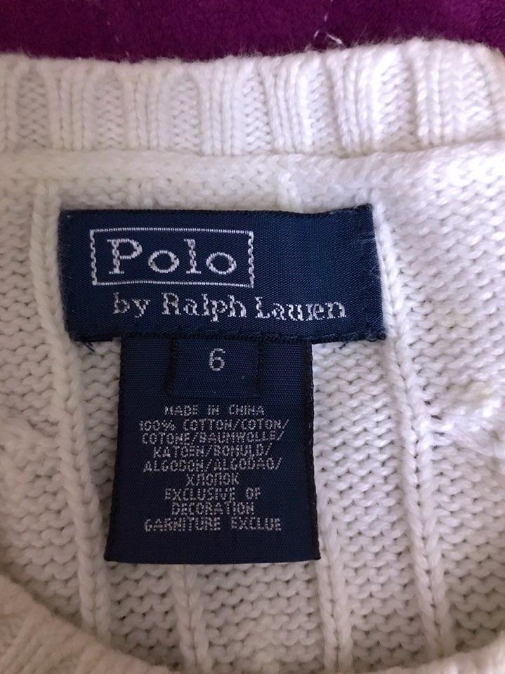 폴로 흰색스웨터 땡처리~