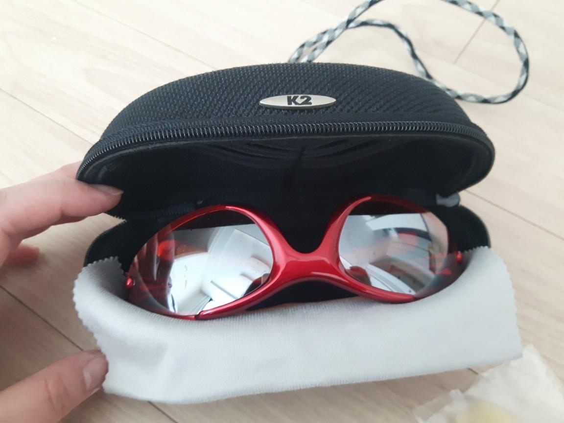 K2 보안경 등산 낚시 등 사용가능 케이스+추가렌즈 세트