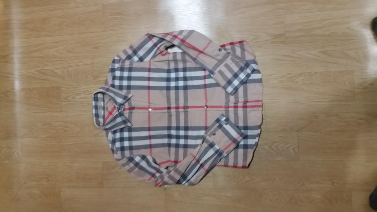 정품 버버리 노바체크 셔츠