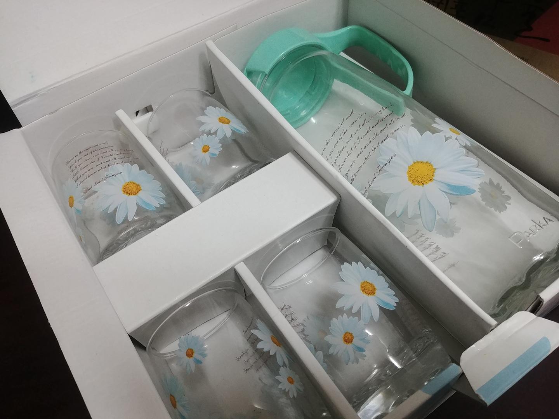 컵 물병 유리볼 세트 새상품