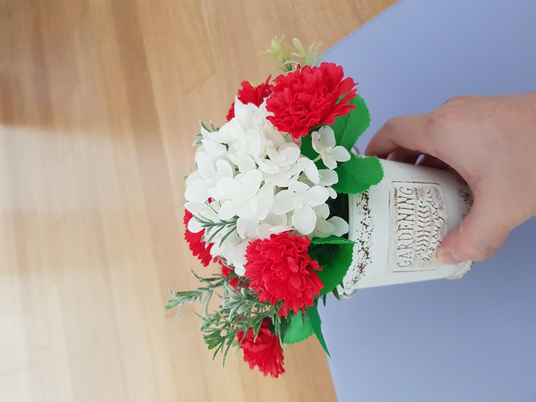 비누꽃 카네이션 조화꽃 꽃꽂이 화분