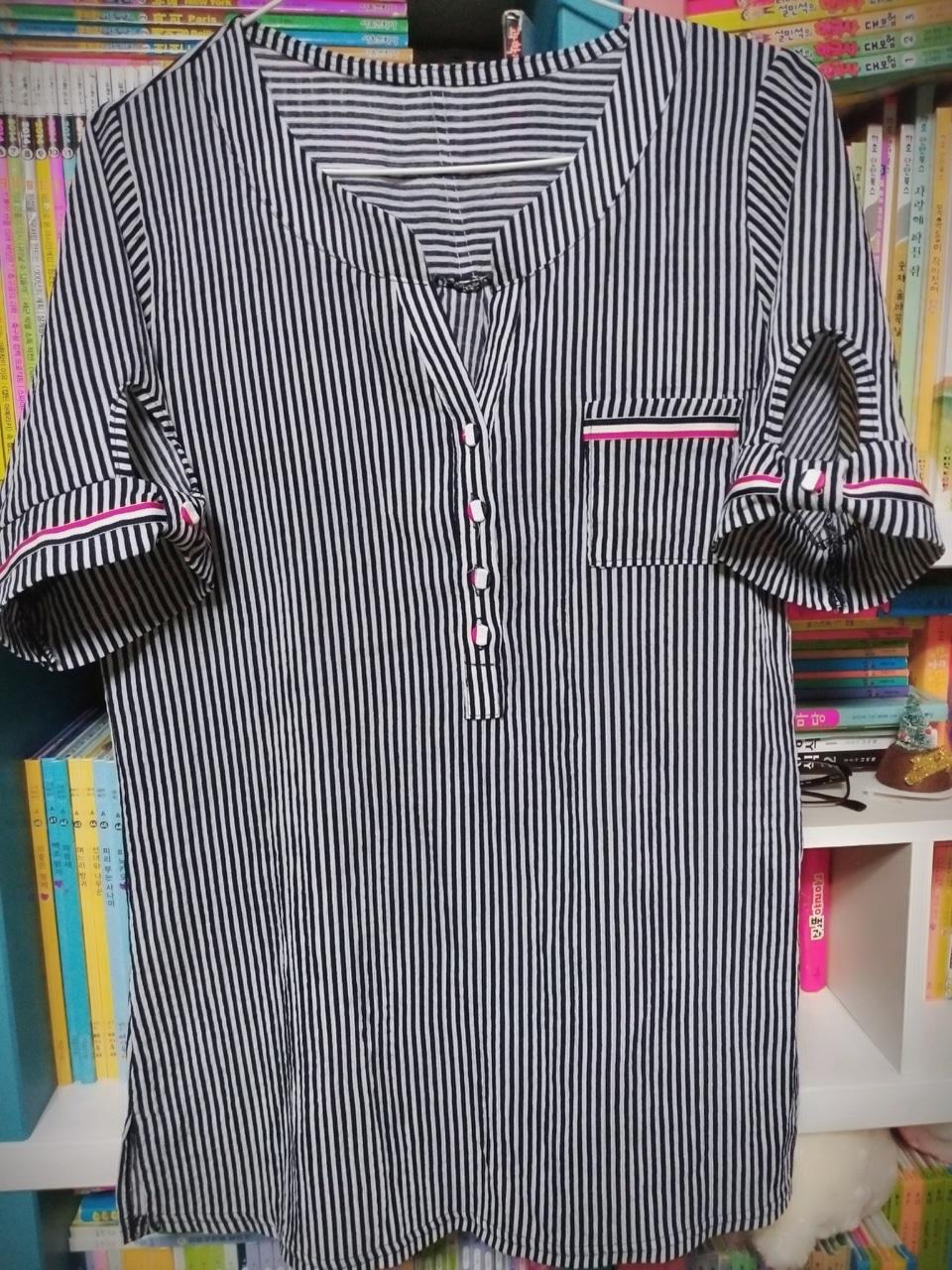 줄무늬 셔츠 55-66 여름용
