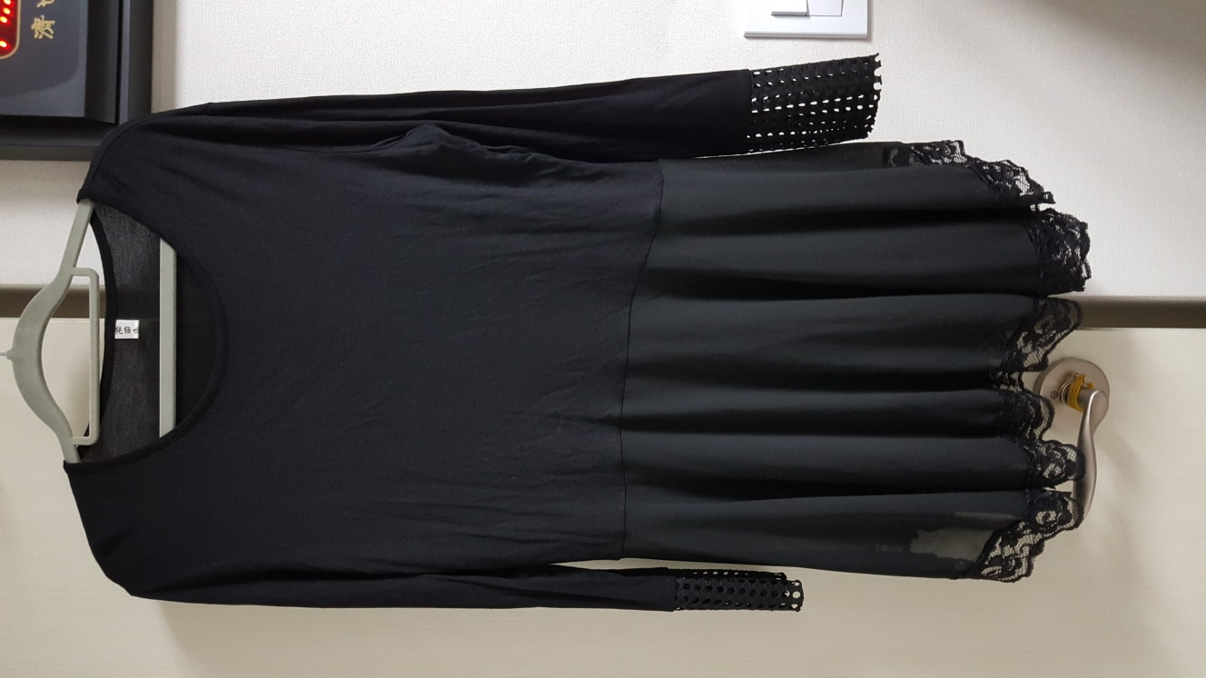 롱티셔츠+조끼(세트옷)~77사이즈