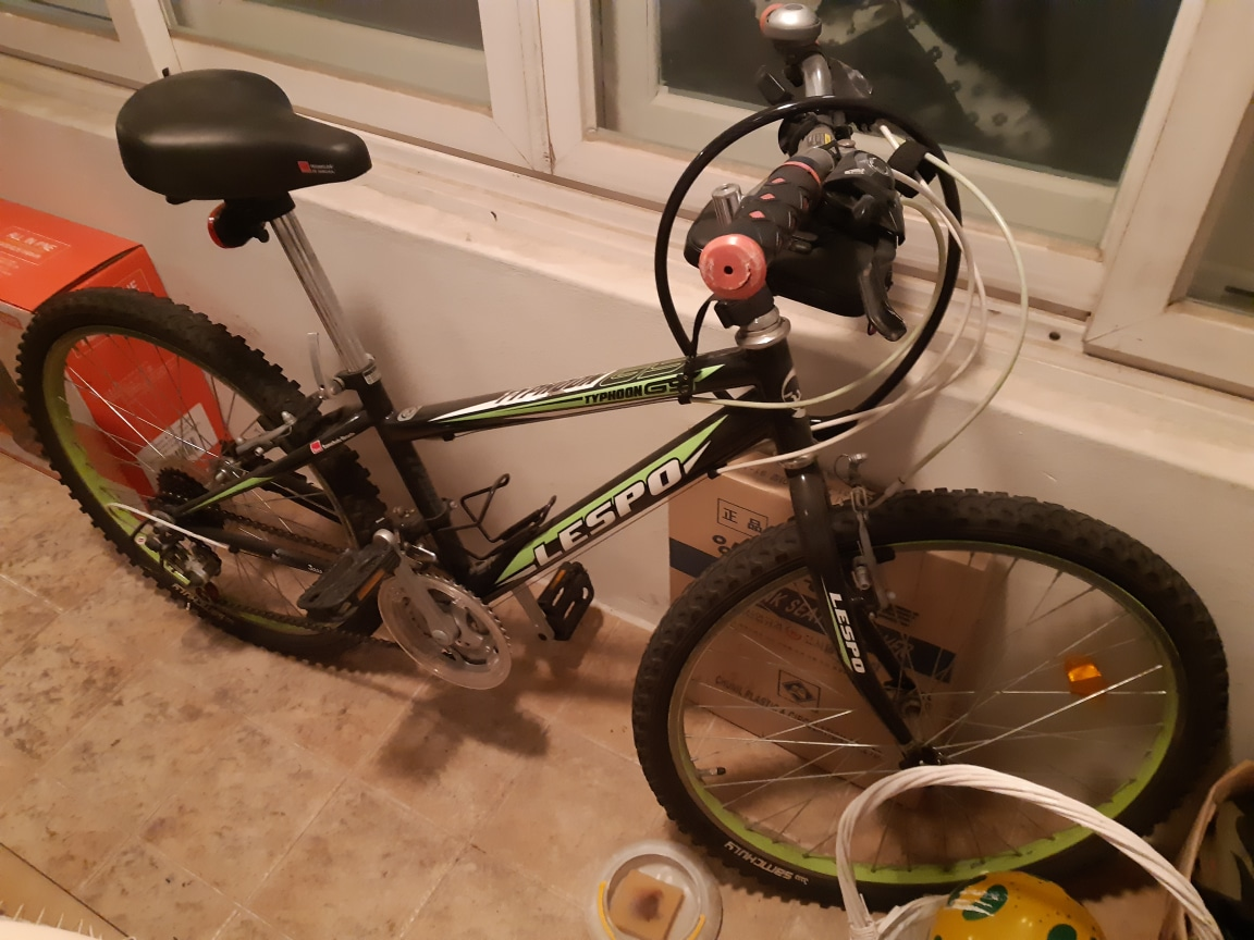 자전거 MTB 초록색(몇번 안타고 자전거 바꿨어요)
