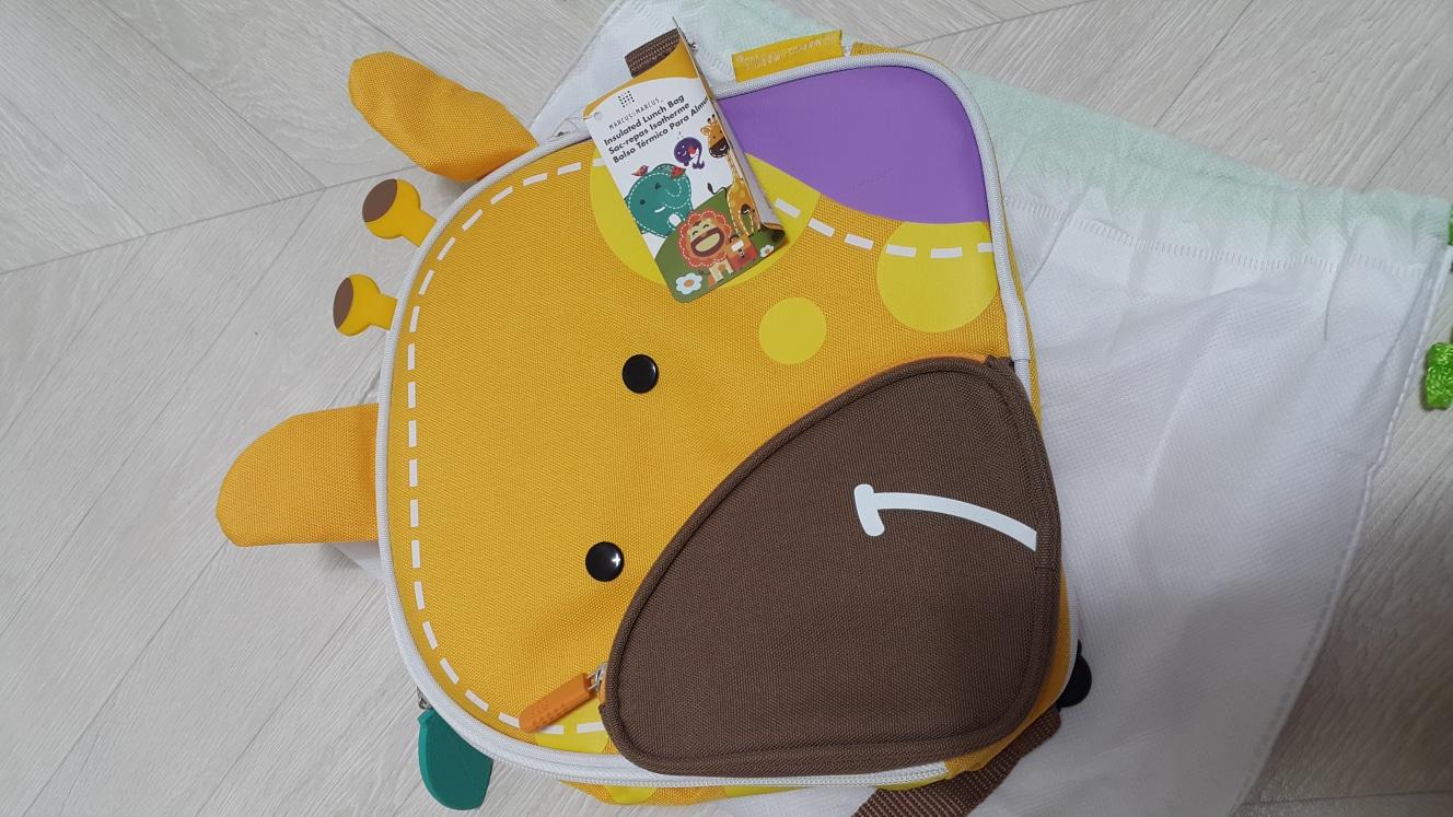 (새상품)  마커스앤마커스 기린 유치원 소풍가방 아기가방 어린이가방 아기백팩 어린이백팩
