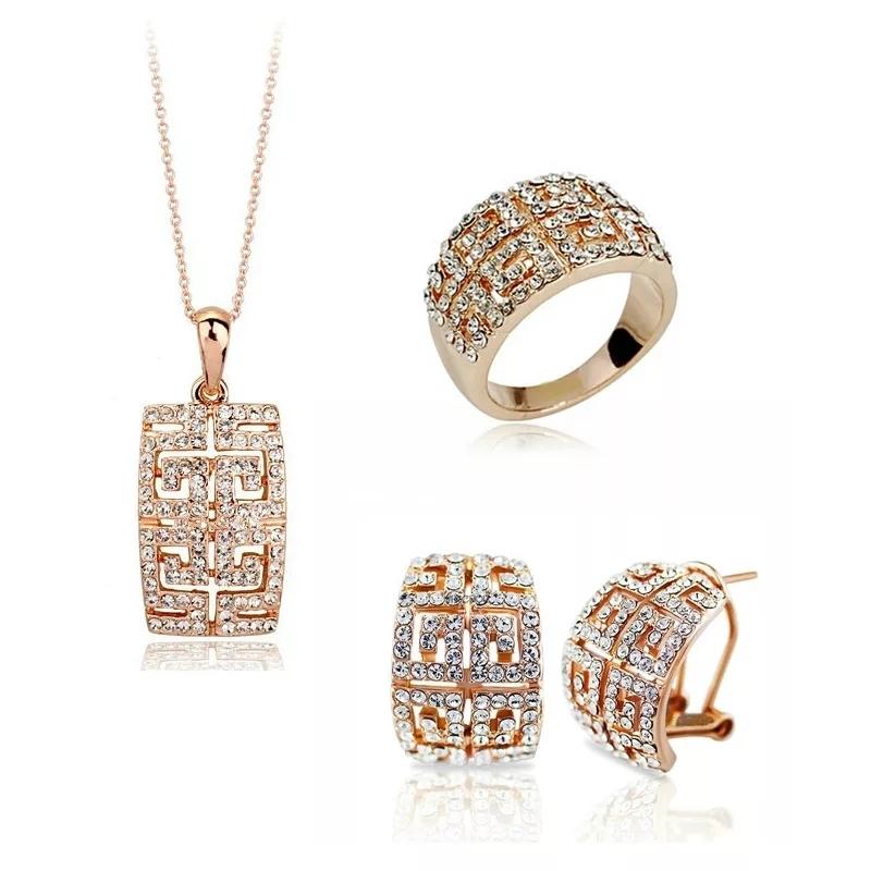 오스트리아 Crystal Jewelry Set(화이트만 남앗어요)