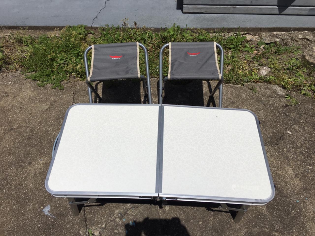 캠핑의자(낚시의자) & 접이식 테이블 팝니다