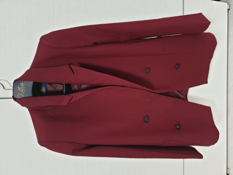와인색 자켓 바지세트