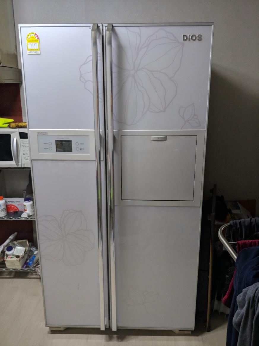 디오스 689l 양문형냉장고
