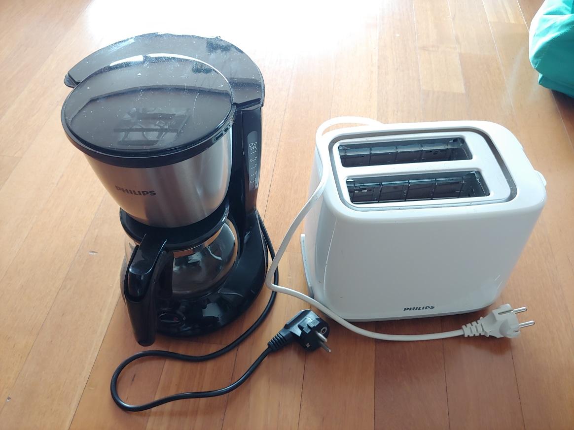 커피머신 토스트기