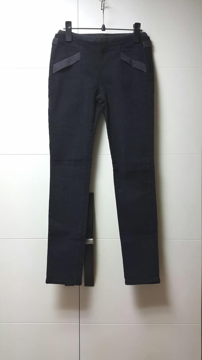 [25~26] 새제품/포켓배색 블랙 밴드바지/슬림&스키니핏/44~55