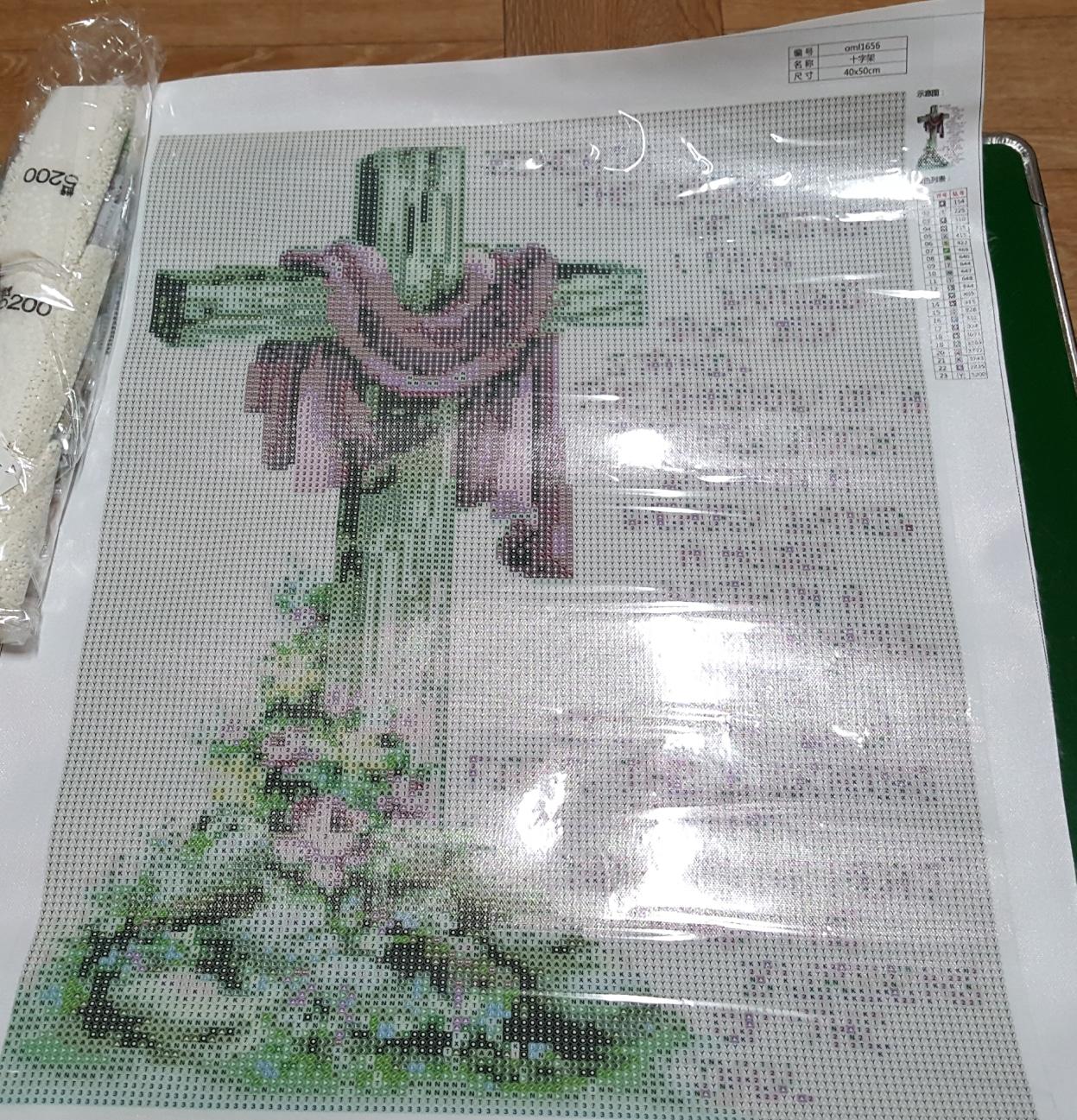 십자가 보석십자수
