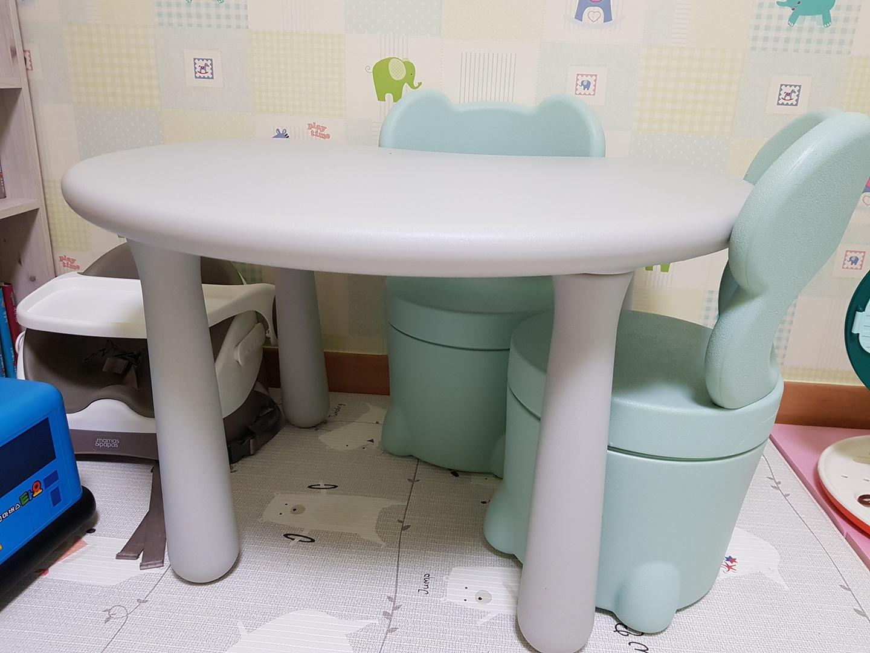 한샘 키즈 테이블 세트 2인
