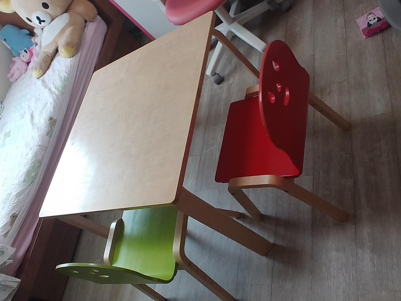 토리 책상의자 2세트(자작나무 친환경 책상/책상2개, 의자4개)