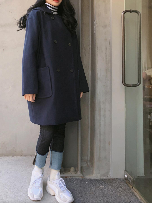 (새상품) 믹스엔멕스 유명쇼핑몰 블루 청색 코트 롱기장
