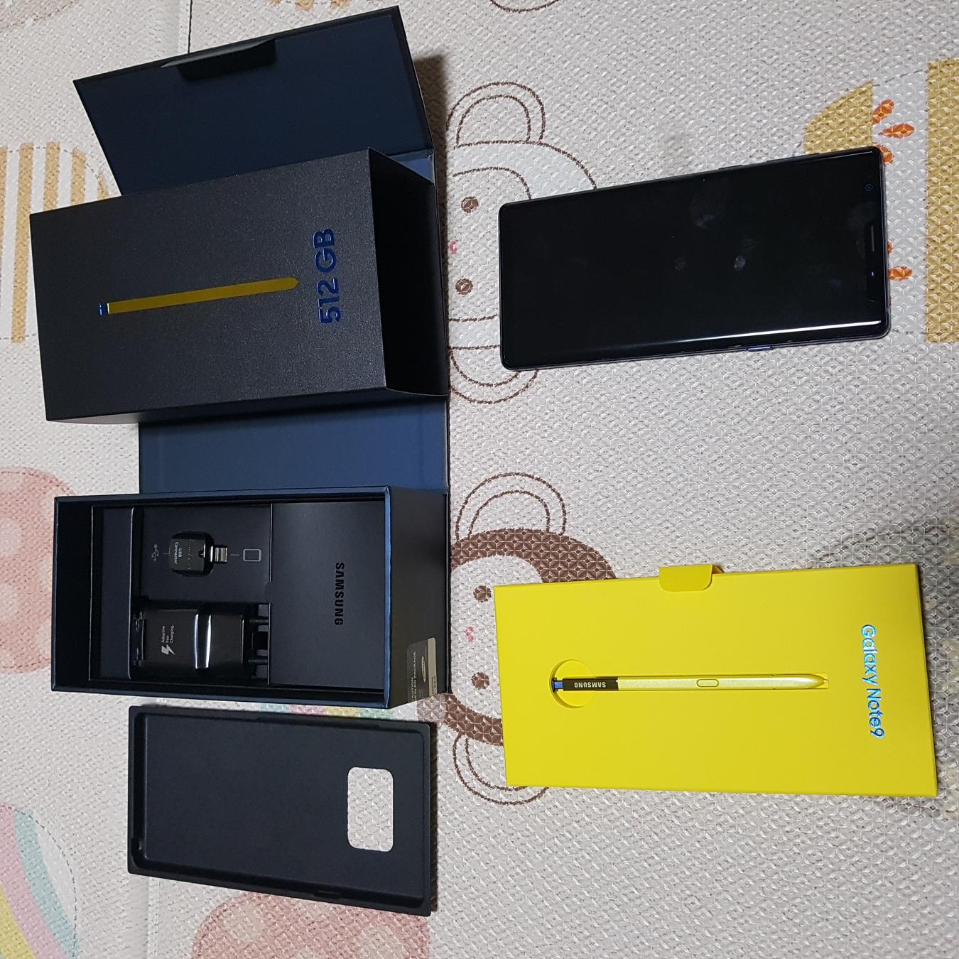 갤럭시 노트9 블루 512G 미사용 새제품 67만원