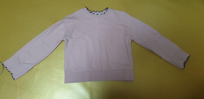 soup분홍색 맨투맨 티셔츠