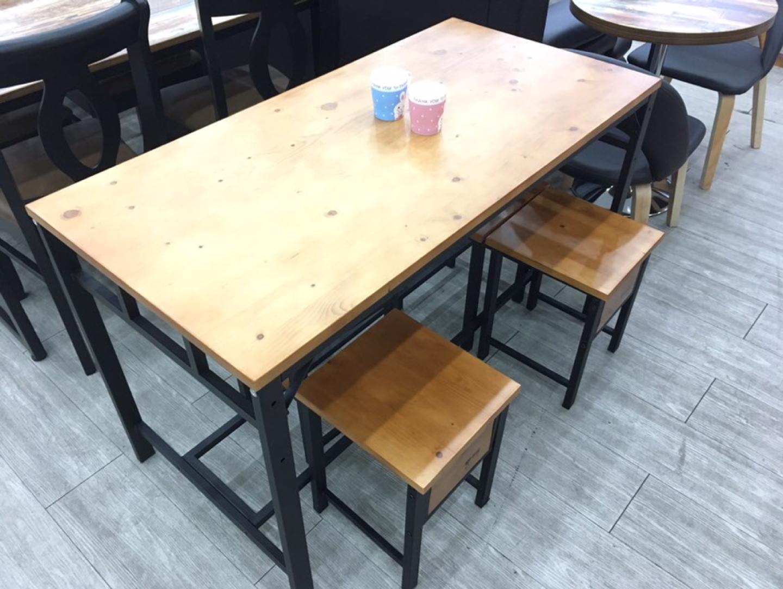 파란들 4인 고무나무 원목 식탁 의자세트
