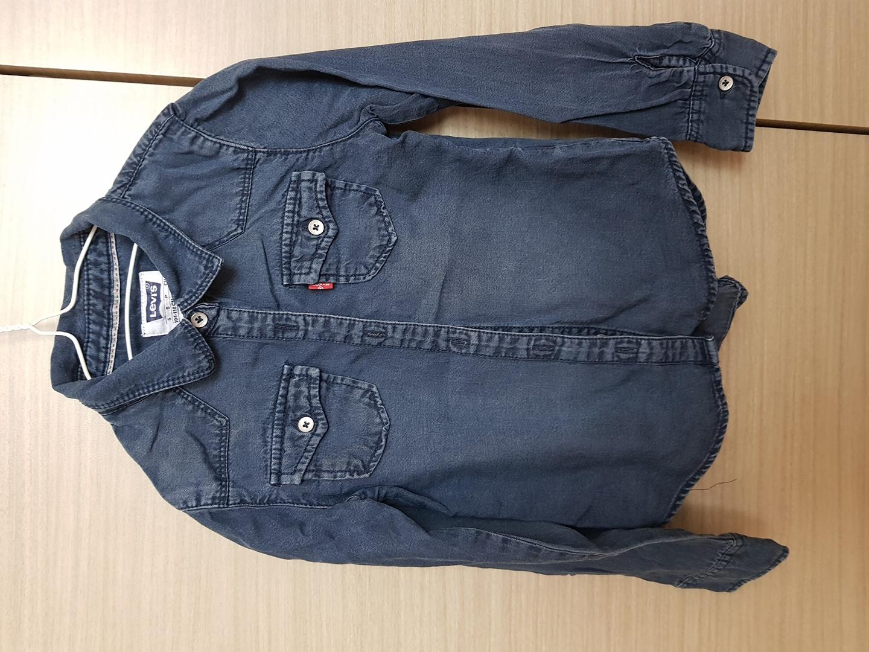 (가격인하)리바이스 청색 셔츠 4-5세용