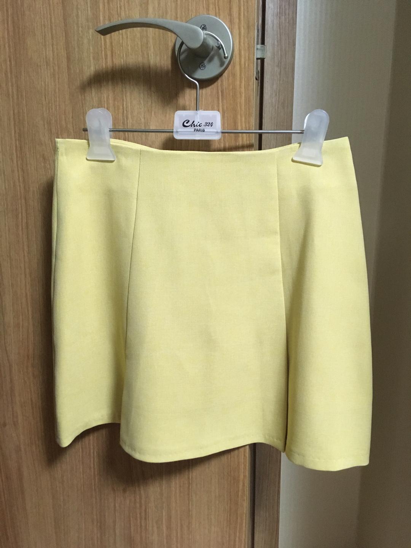 봄 여름에 어울리는 노란 에이라인 스커트 팝니다