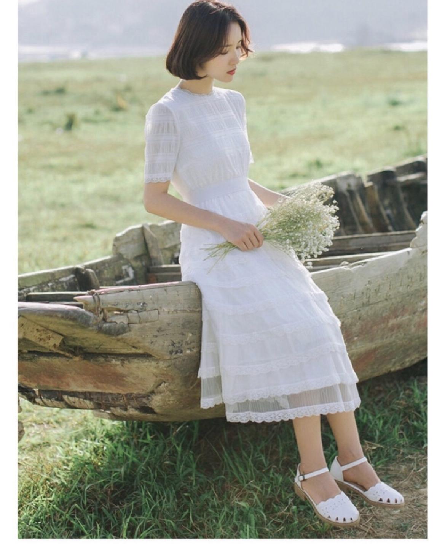 웨딩촬영용 브라이덜샤워 흰드레스