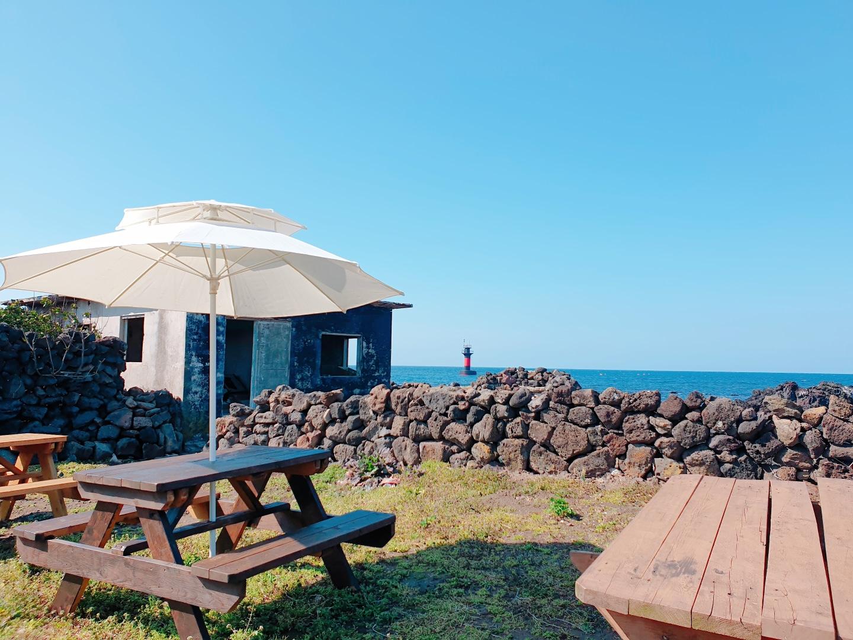 (파격할인) 100평의 마당과 바다가 이어지는 그림같은 제주민박집