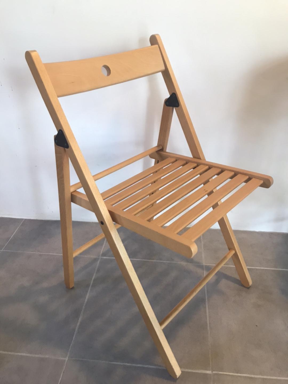 이케아 원목 접이식 의자
